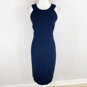 French Connection navy halter pencil midi dress 12